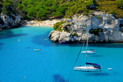Sandy cove in the Balearics