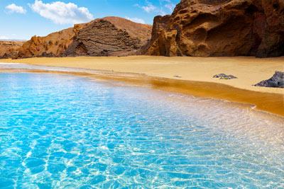 Sandy beach on Fuerteventura, Canary Islands