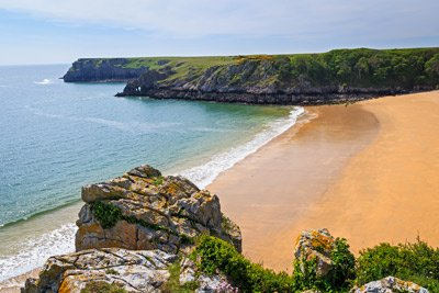Sandy beach on the Pembrokeshire coast, Wales
