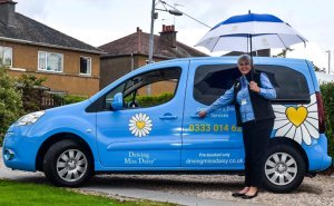 Driving Miss Daisy adapted vehicle for holiday transfers for disabled guests