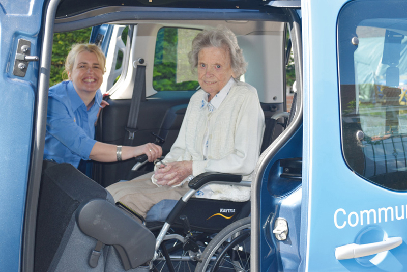 Driving Miss Daisy accessible car passenger and carer