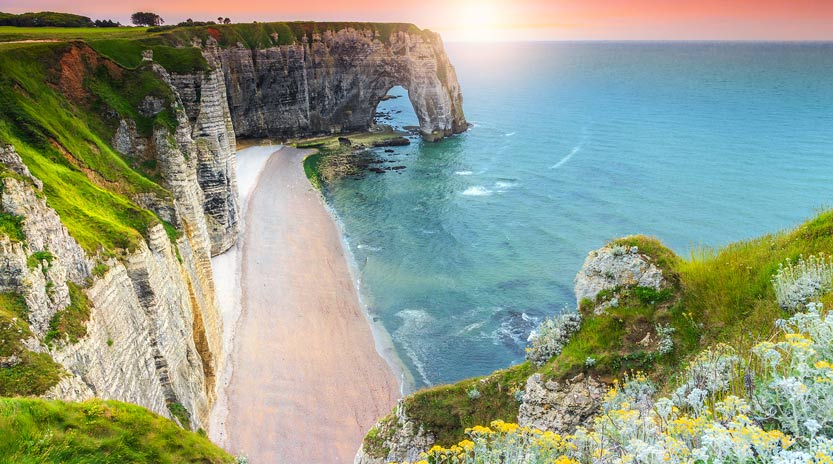 Normandy cliffs and beach