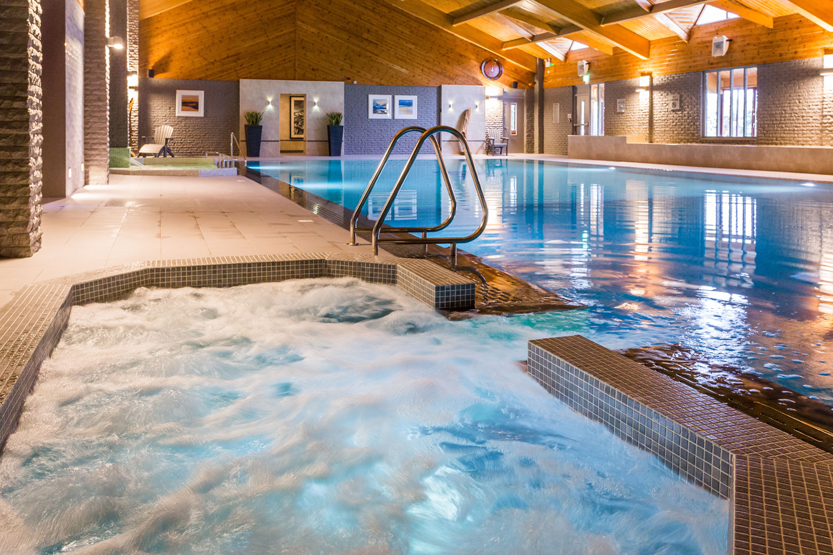 Accessible disabled-friendly spa hotel pool on the Isle of Arran