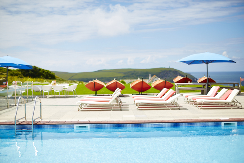 Accessible disabled-friendly hotel pool in Cornwall