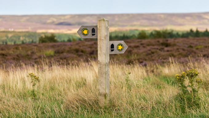 Signpost on the North Yorkshire Moors