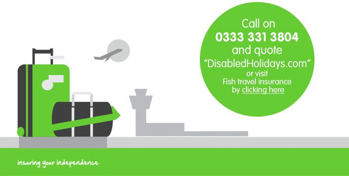 "Call on 0333 331 3804 and quote ""DisabledHolidays.com"""